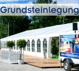 Alles aus einer Hand von Zeltverleih Starnberg, Zelte, Catering, Zeltausstattung, Künstler für Grundsteinlegung